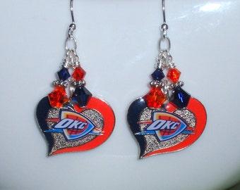 OKC Thunder Earrings 29e70e6db