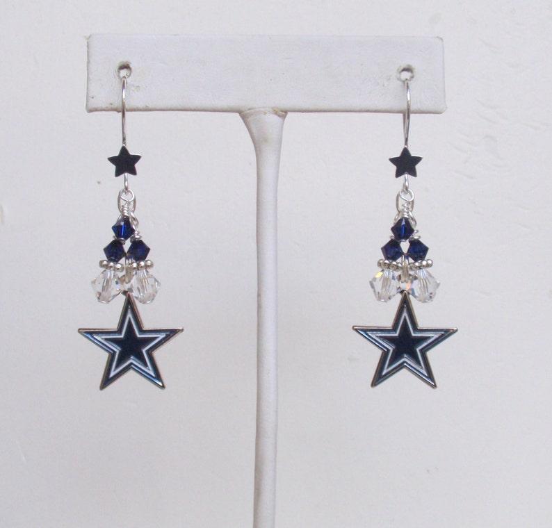 59f116e6260962 Dallas Cowboys Earrings I m From Dallas Darlin