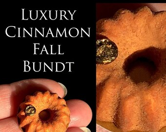 Luxury Cinnamon Fall Bundt  - Artisan fully Handmade Miniature in 12th scale. From After Dark miniatures
