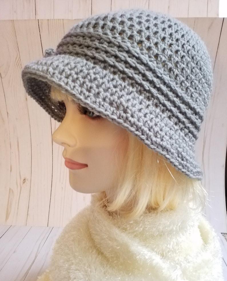 Winter Cloche Hats Grey Crochet Cloche Hat 1920S Cloche  Etsy-8686