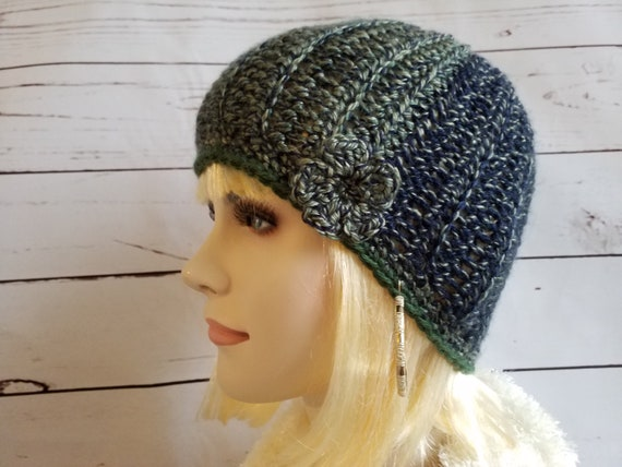 Crochet womens beanie hat womens Toque knitted womens hat  5985f22733d