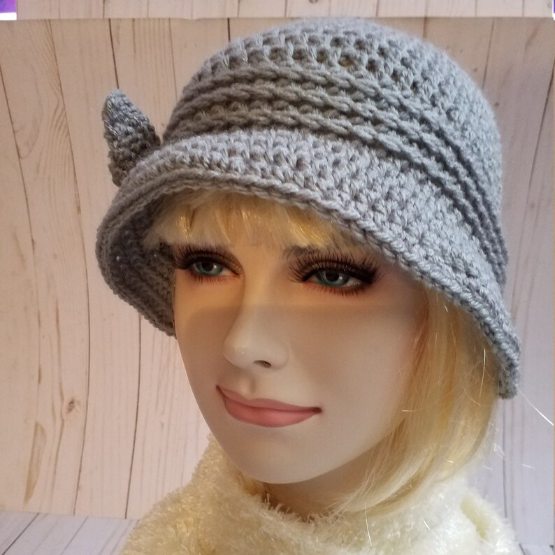 Winter Cloche Hats Grey Crochet Cloche Hat 1920S Cloche  Etsy-2486