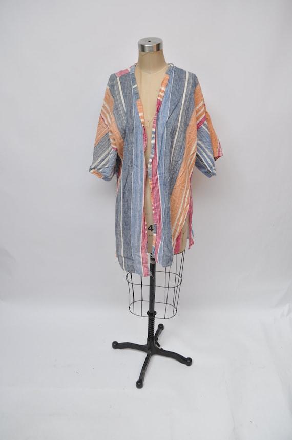 vintage wrap cover up blouse shirt top 1980s retro