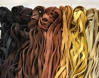 Straight Cut Elk Laces - 1/2 Inch by 50-60 Inches - 2 Pieces - Stock No. ELK LACES