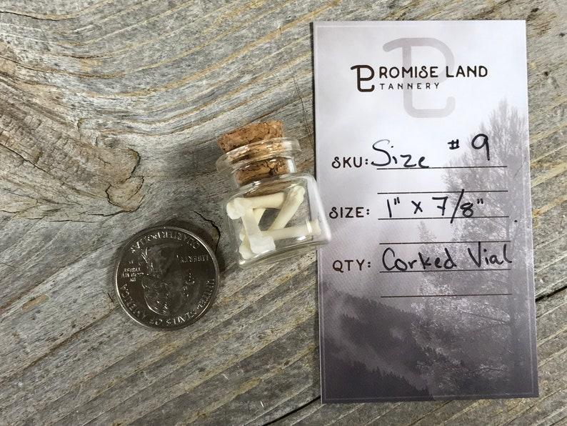 Empty Tiny Jar Size #9 Corked Glass Vial Stock No 1 x 78