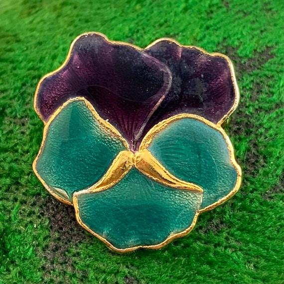 Vintage Jewelry, Vintage Pansy Jewelry, Enamel Pa… - image 7