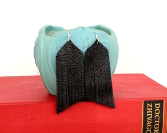 Tassel Leather Earrings - Choose Your Color