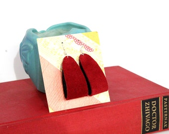 Hoop Leather Earrings - Choose Your Color!