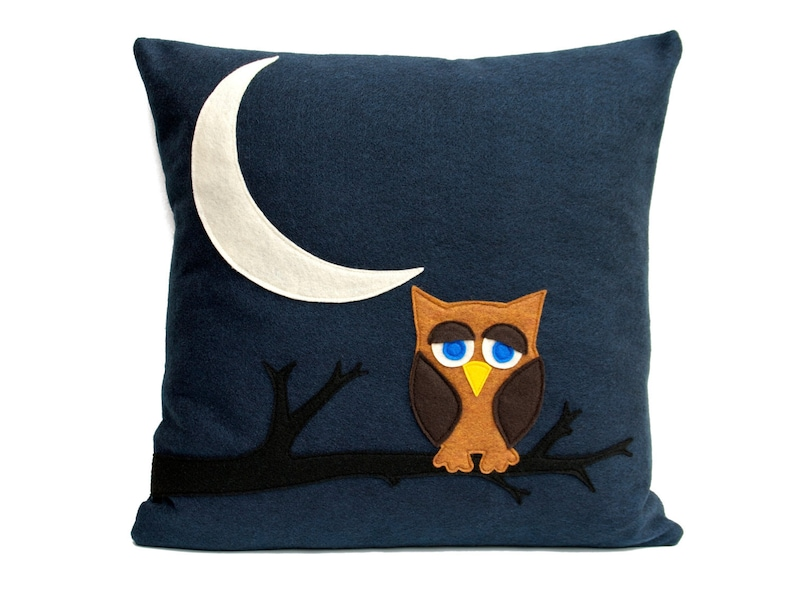 Little Owl Dreaming of Flying to The Moon and Back Eco-Felt image 0