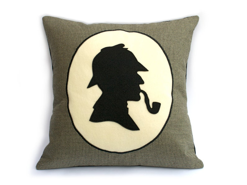 Classic Sherlock Holmes Victorian Style Shadow Silhouette image 0