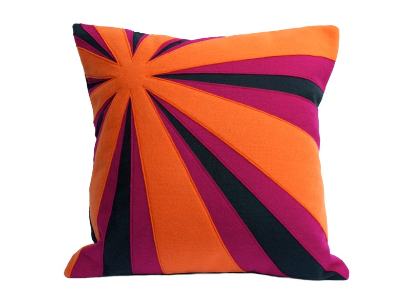 Crepuscular Rays Eco-Felt Pillow Cover 18 inches In Stock and image 0