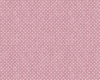 1/2 Yard Cut of Pink Wooly Dot - A Wooly Garden 100% Cotton Quilt Fabric