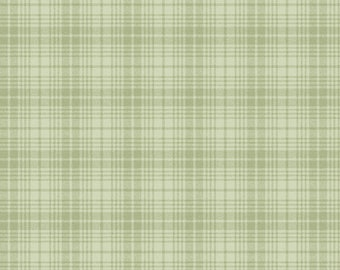1/2 Yard Cut of Green Wooly Plaid - A Wooly Garden 100% Cotton Quilt Fabric