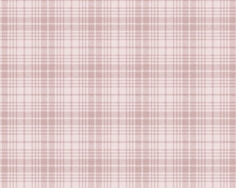 1/2 Yard Cut of Pink Wooly Plaid - A Wooly Garden 100% Cotton Quilt Fabric