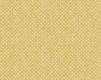 1/2 Yard Cut of Yellow Wooly Dot - A Wooly Garden 100% Cotton Quilt Fabric