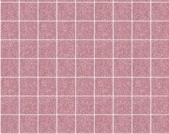 1/2 Yard Cut of Pink Wooly Windowpane - A Wooly Garden 100% Cotton Quilt Fabric