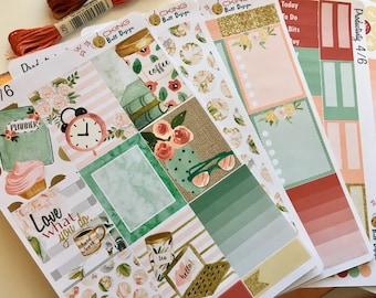Love What You Do Weekly Planner Sticker Kit | Erin Condren or Happy Planner