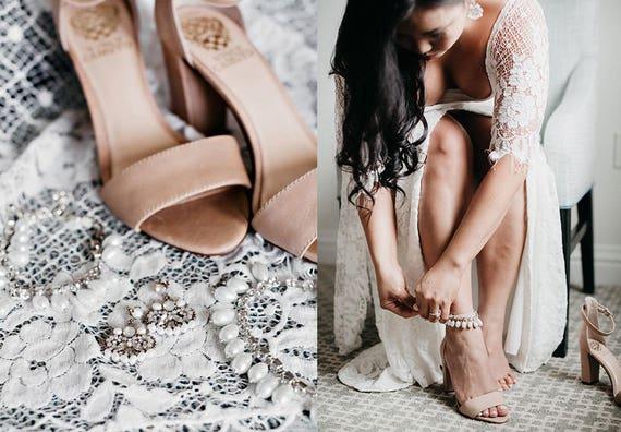 Khaleesi Bohemian Bridal Anklet, Pearl Anklet, Beach Wedding Anklet, Ankle Bracelet, Boho Anklets, Destination Wedding Bridal Foot Jewelry