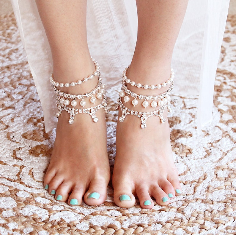 Simsly Wedding Beach Flower Anklet Bracelet Foot Chain Accessories Jewelry For Jewelry & Watches