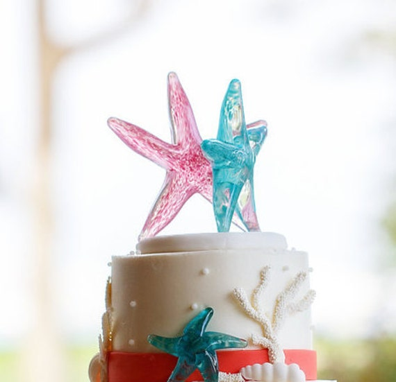 Starfish Wedding Cake Topper Custom Made To Order