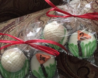 Golf chocolate covered oreos