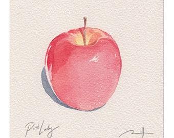 Pink Lady Apple Print (framed)