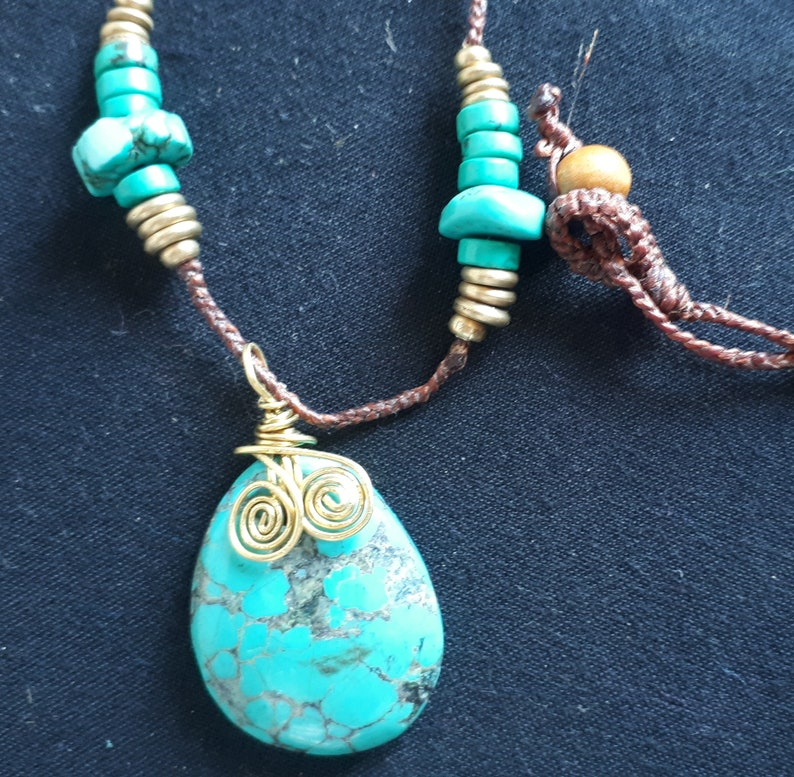 Turquoise Stone Necklace Necklaces For Women Turquoise Pendant Turquoise stone pendant necklace Turquoise Necklace Turquoise Jewelry,
