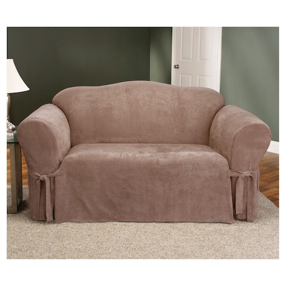 Swell Soft Suede Loveseat Slipcover Sable Unemploymentrelief Wooden Chair Designs For Living Room Unemploymentrelieforg