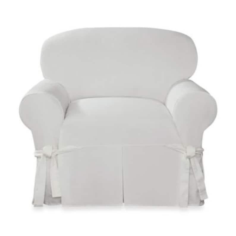 Sensational Designer Twill Chair Slipcover White Slip Cover Pabps2019 Chair Design Images Pabps2019Com