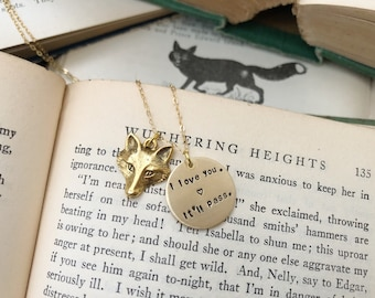 i love you - it'll pass necklace / fleabag inspired necklace / hot priest fox necklace / fox charm necklace / fleabag necklace / hot priest