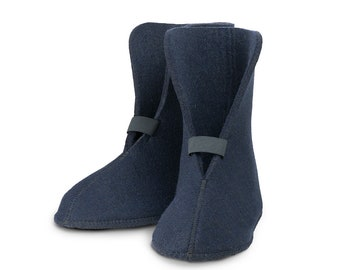 """Wool Boot Liners // 10"""" High // Blue // 85% Wool, Style 826BB, Boot Insert, Short Boot Liner"""