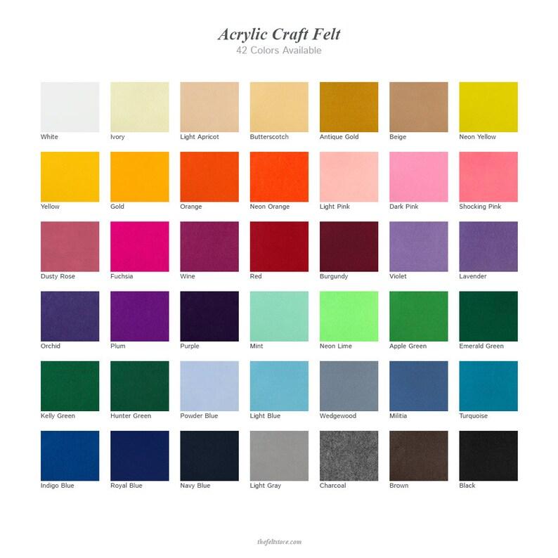 Add On Acrylic Felt  Sample Bag  2-34x2-34