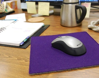 """Dual-Sided Square Wool Felt Mouse Pad - 9"""" x 9"""", Multiple Color and Pack Sizes Available, Square Mousepad, Mouse Mat"""