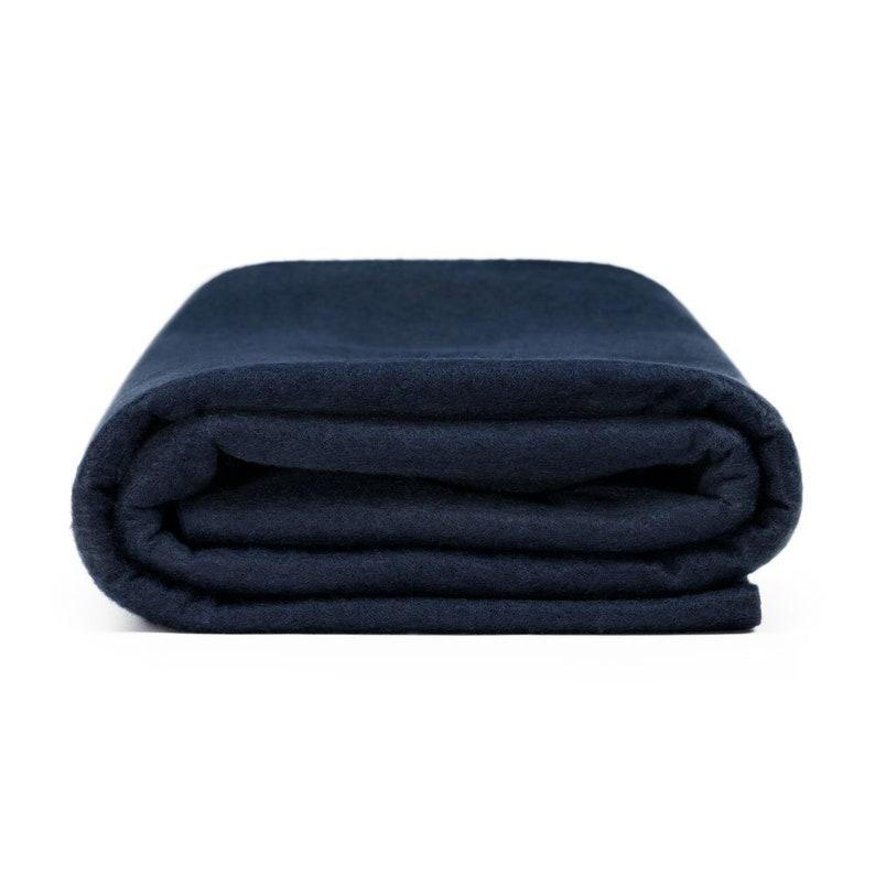 Premium Wool Blend Felt by the Yard  Navy Blue  72\u201d Wide x 1 yd Long x 364 Thick
