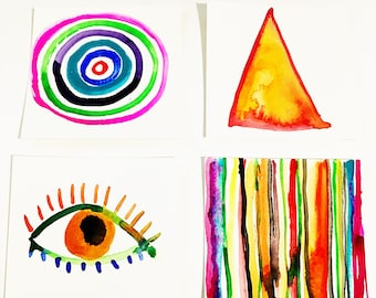 Eye See Shapes and Spirals-INSTANT DOWNLOAD