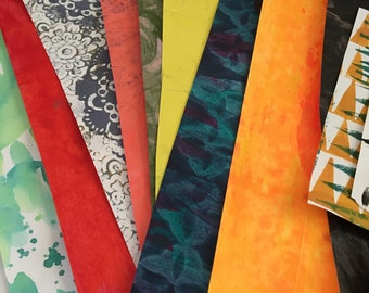 Collage Paper Pack-Hand Painted and/or Printed Papers