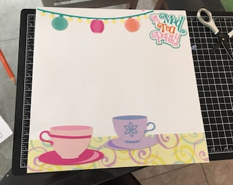 Mad Tea Party Scrspbook layout