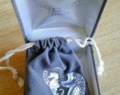 Waterford Crystal Seahorse Brooch with Original Gift Box and Gift Pouch, Late 1990 39 s Era, Rare