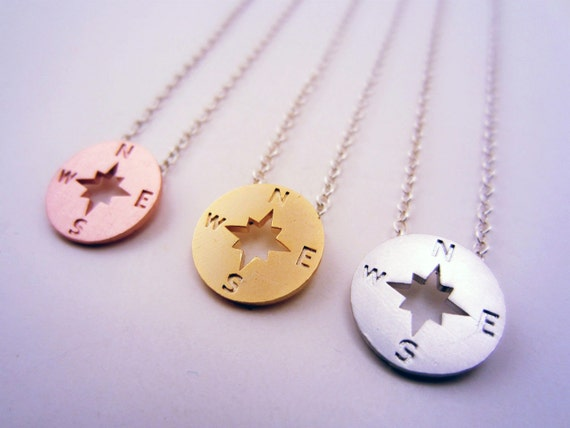3 Best Friend Necklace Compass Necklace Set Of 3 Or 2 Etsy