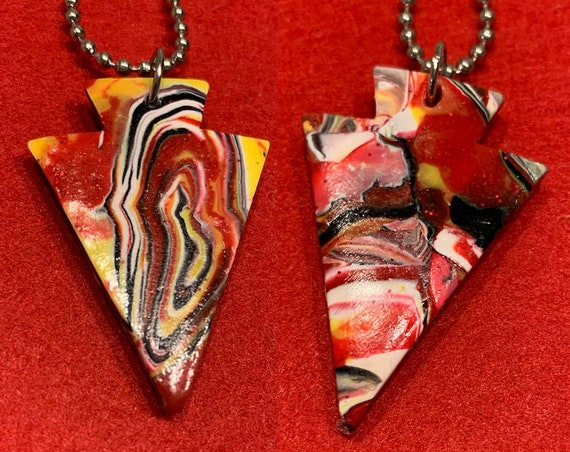Artful KC Football Party Arrowhead Pendants! Fight for your right to party!