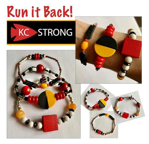 "K.C. Strong ""Run it Back"" -Single Game Day Stacker Bracelet"