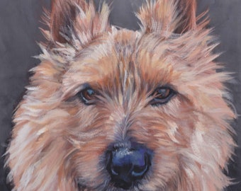 Australian silky terrier dog piano 13x19  art PRINT animals prints