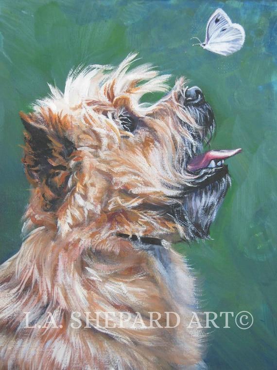 TOY FOX TERRIER portrait dog art  print of LAShepard painting 8x8