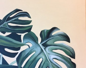 Philodendron painting plant artwork