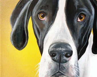 16x20 size canvas custom painted pet portrait sample on 16x20 canvas