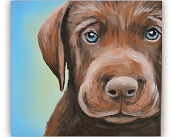 8x10 Custom Pet Portrait 8x10 size canvas