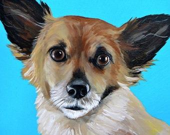 Custom pet portrait hand painted 12x12 size canvas custom painted pet portrait size 12x12 canvas
