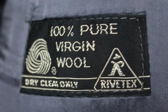 2 Piece Suit 40L Tweed 33x29 Vintage Gray Brown Wool Herringbone Tweed 40L Blazer Pants Free US Shipping 7b40b6