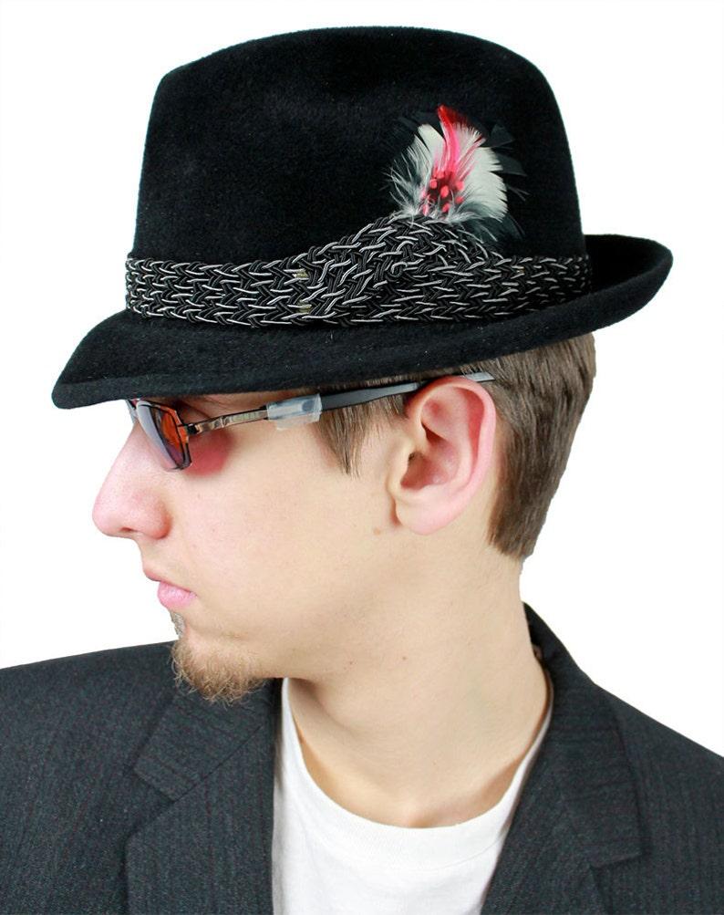 c2320396bef42 Mens Fedora Vintage 50s 60s Mallory Fur Felt Hat   Box 6 7 8