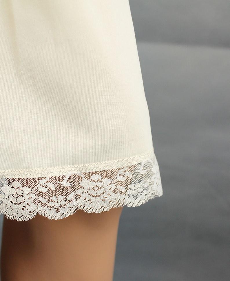 Shadowline Full Slip 34 Vintage Nylon Off White Cream Ivory Lace NOS NWT Sz S Free Us Shipping